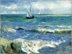 Foam board print  The Sea at Saintes-Maries-de-la-Mer - Vincent van Gogh