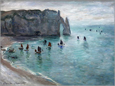 Wall sticker  Étretat, Porte d'Aval: Fishing Boats Leaving the Harbor - Claude Monet