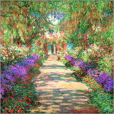 Wall sticker A Pathway in Monet's Garden