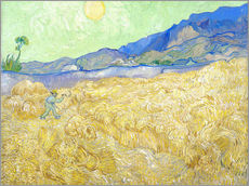 Wall sticker  Wheat Field with Reaper at sunrise - Vincent van Gogh