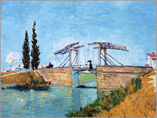 Gallery print  The drawbridge in Arles - Vincent van Gogh