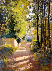 Gallery print  Path under trees - Gustave Caillebotte