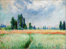 Premium poster  Wheat field - Claude Monet