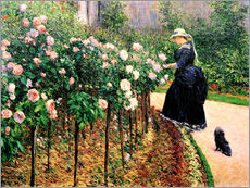 Wall sticker  Roses in the garden - Gustave Caillebotte