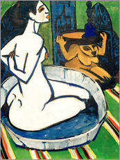 Wall sticker Female nude in the tub