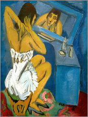 Wall sticker  Toilet, Woman in front of the mirror - Ernst Ludwig Kirchner