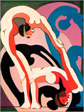 Wall sticker  Acrobat pair - Sculpture - Ernst Ludwig Kirchner