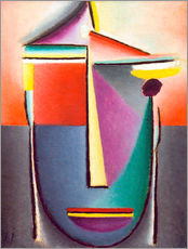 Gallery print  Abstract head: Life and death - Alexej von Jawlensky