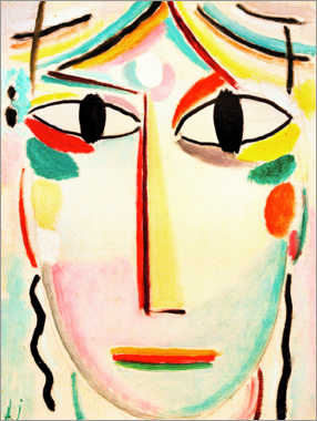 Premium poster  Face of the Saviour - Alexej von Jawlensky