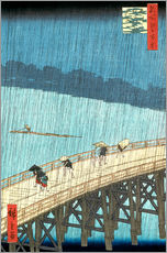 Wall sticker  Ohashi bridge in the rain - Utagawa Hiroshige