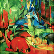 Acrylic print  Deer in the forest II - Franz Marc