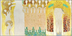 Wood print  The Beethoven Frieze - Gustav Klimt