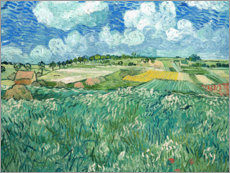 Foam board print  Plain near Auvers with rain clouds - Vincent van Gogh