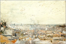 Wall Sticker  Roofs of Paris from Montmartre - Vincent van Gogh