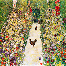 Gallery print  Garden Path with Chickens - Gustav Klimt