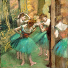 Premium poster  Dancers in Pink and Green - Edgar Degas