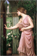 Wall sticker  Psyche opens Cupid's Garden Gate - John William Waterhouse