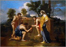 Wall sticker  The Shepherds of Arcadia - Nicolas Poussin