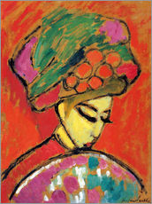 Wall sticker  Young Girl in a Flowered Hat - Alexej von Jawlensky