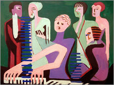 Gallery print  Singer at the piano - Ernst Ludwig Kirchner