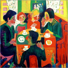 Gallery Print  Coffee Drinkers - Ernst Ludwig Kirchner