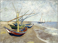 Wall Stickers  Fishing Boats on the Beach at Saintes-Marie-de-la-Mer - Vincent van Gogh
