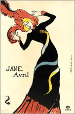 Wall sticker  Jane Avril - Henri de Toulouse-Lautrec