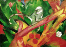 Aluminium print  The monkey - Franz Marc