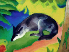 Premium poster  Blue black fox - Franz Marc