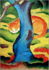 Premium poster  Cat under a tree - Franz Marc