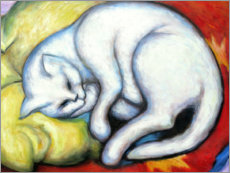 Canvas print  The white cat - Franz Marc