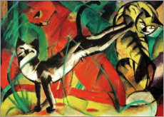 Foam board print  Three cats - Franz Marc