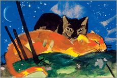 Wall sticker  Two cats - Franz Marc