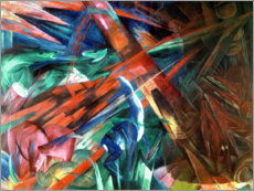 Acrylic print  Animal fates (the trees showed their rings, the animals their veins) - Franz Marc