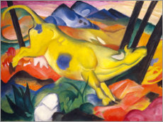 Wood print  The yellow cow - Franz Marc