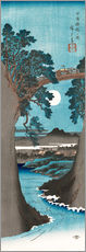 Wall sticker  The Monkey Bridge in Kai Province - Utagawa Hiroshige