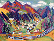 Wall sticker  View of Davos - Ernst Ludwig Kirchner