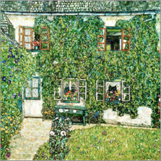 Canvas print  Forester's house in Weissenbach on Attersee lake - Gustav Klimt