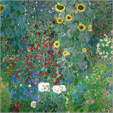 Wall sticker  Garden with Sunflowers - Gustav Klimt
