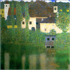 Wall sticker  Castle chamber on the Attersee I - Gustav Klimt