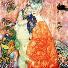 Acrylic print  The Girlfriends - Gustav Klimt