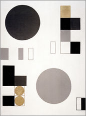 Wall sticker  Composition with circles and rectangles - Sophie Taeuber-Arp