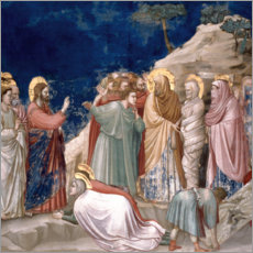 Wood print  The Resurrection of Lazarus - Giotto di Bondone