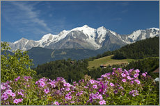 Wall sticker  View from the village Cordon to Mont Blanc Massif, France - Frauke Scholz