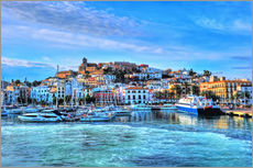 Gallery print  View of the old port of Ibiza - HADYPHOTO