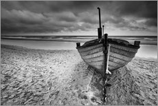 Gallery print  Boot am Meer monochrome - Filtergrafia
