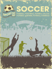 Wall sticker Soccer poster