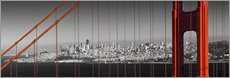 Wall Stickers  Golden Gate Bridge Panoramic - Melanie Viola