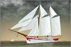 Wall Stickers  Sailing boat, two-masted sailing boat - Kalle60