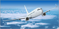 Wall Stickers  Passenger airline over the clouds - Kalle60
